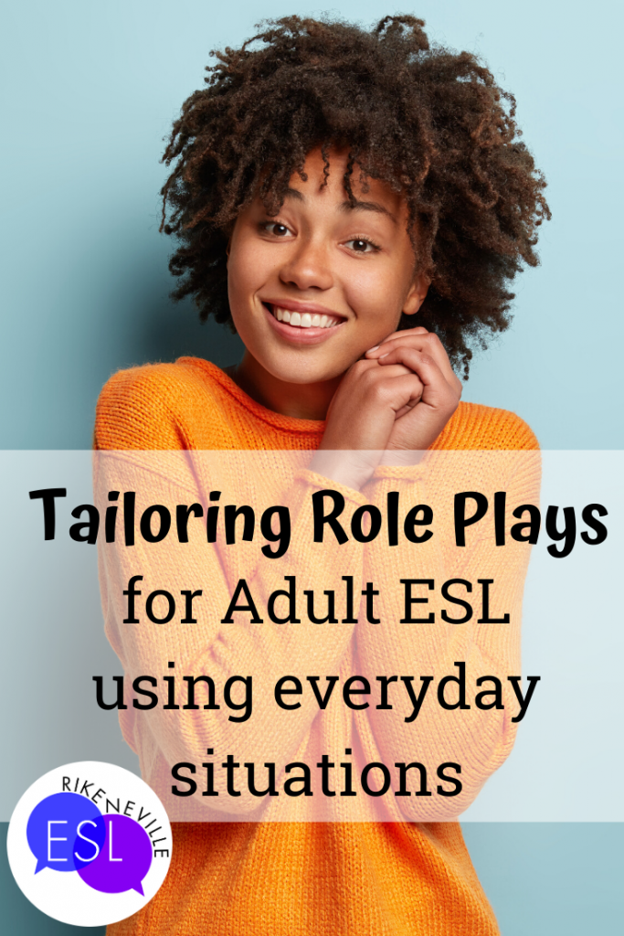 grateful and pleased adult esl student appreciates role plays that fit her needs